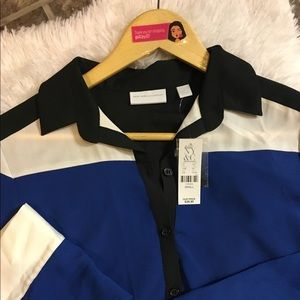 NWT NY&Co Color Block Blouse